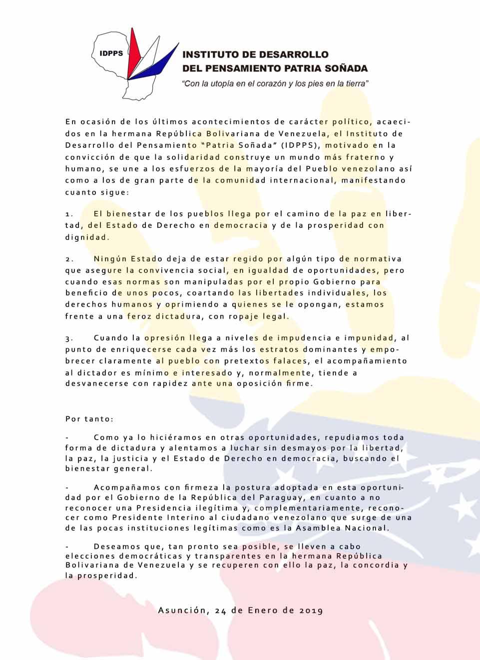 Sobre Situación en Venezuela
