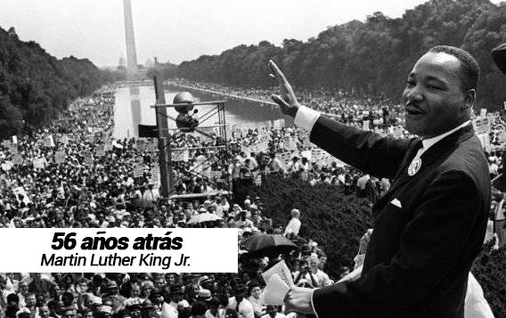 Manifestación por los Derechos Civiles y Martin Luther King Jr.