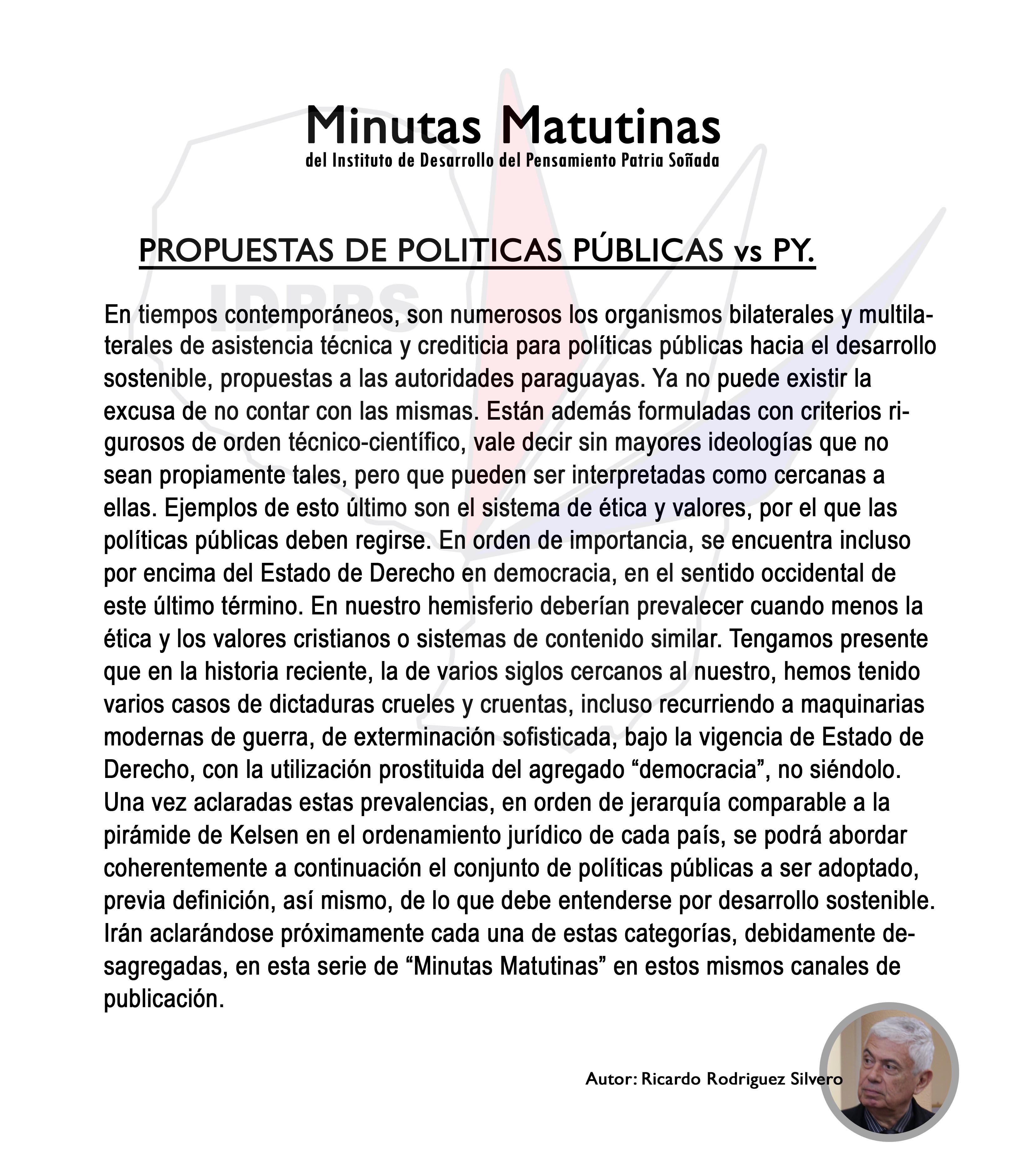 Propuestas de Políticas Públicas vs. Paraguay