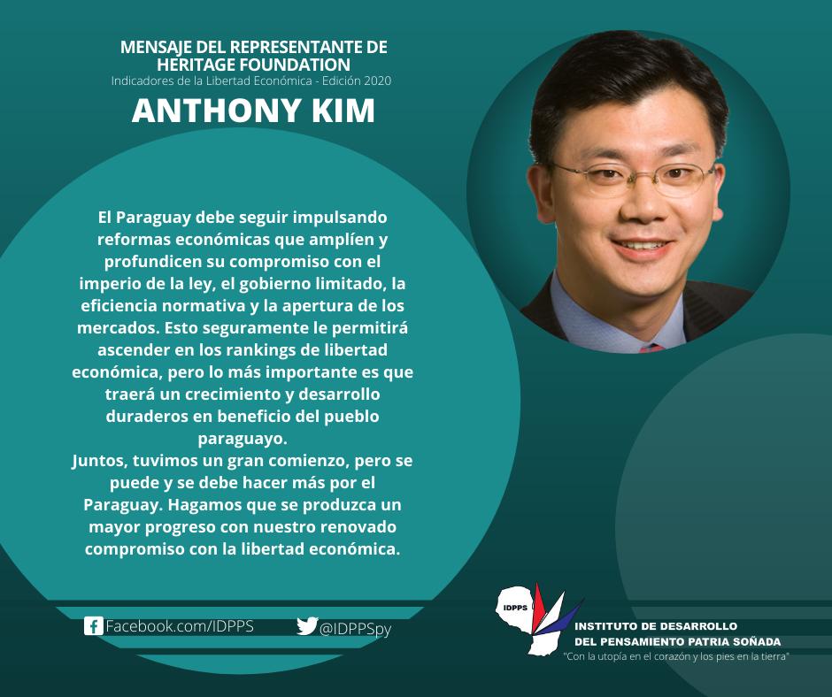 Mensaje de Anthony Kim