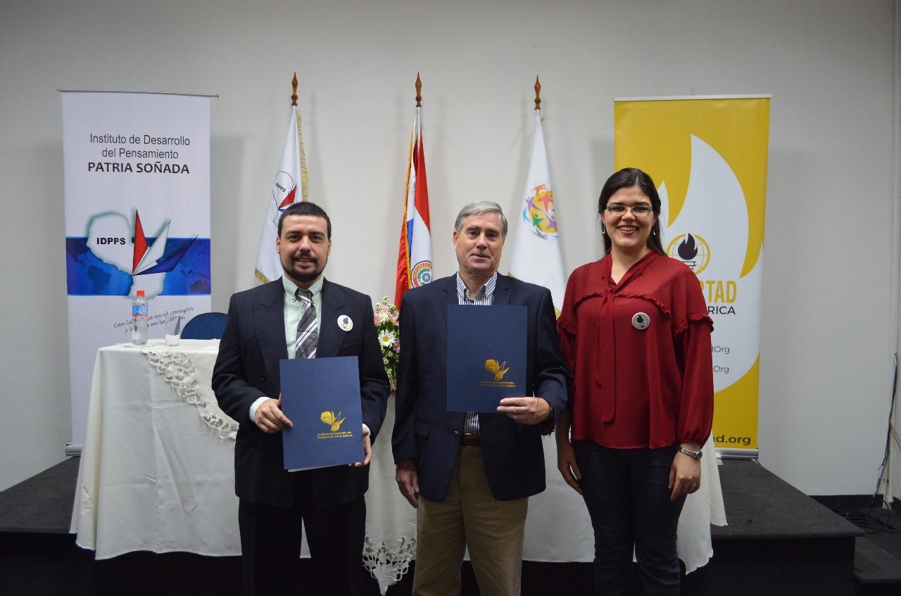 Firma Convenio Marco Estudiantes por la Libertad (Capítulo Paraguay) - IDPPS