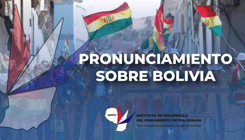 Pronunciamiento sobre Bolivia 13/11/2019