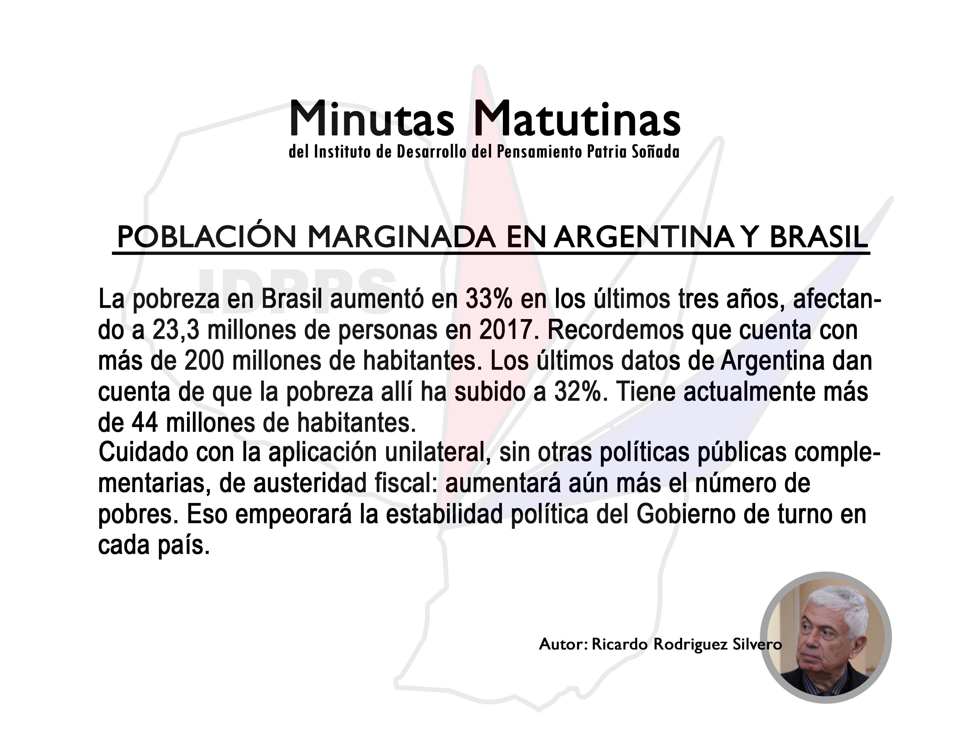 Población Marginada en Argentina y Brasil